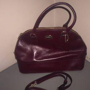 Coach dome satchel plum purse shoulder strap nice